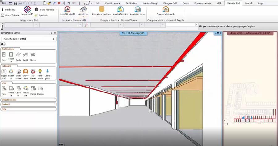 Figura 8 - Vista sviluppo rete in render 3D