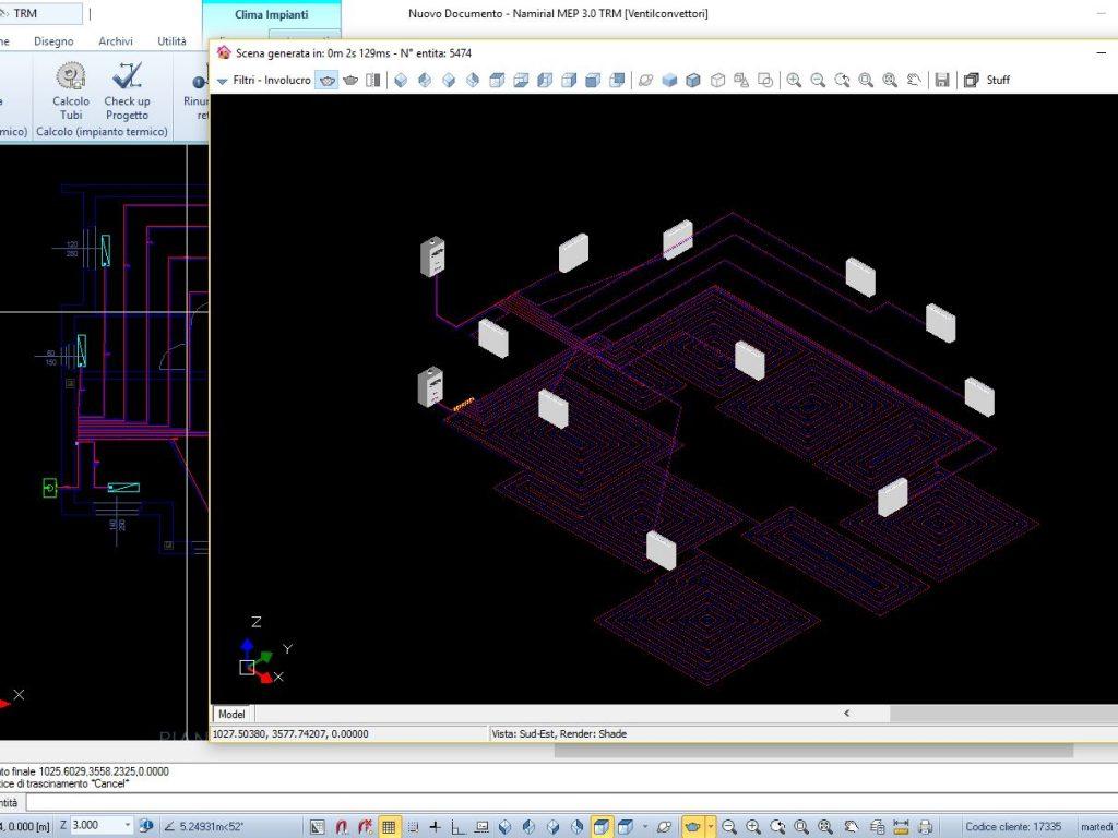 Clima impianti: render 3D