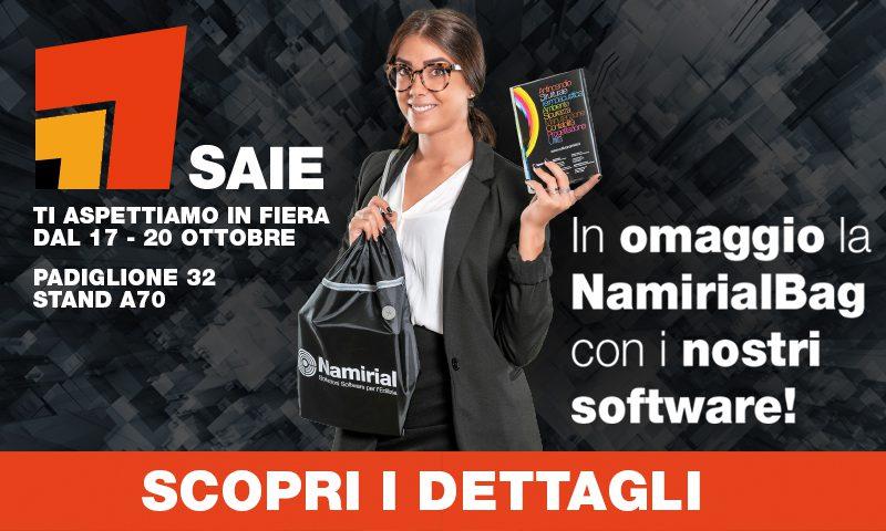 In omaggio la Namirial Bag con i nostri software - Scopri i dettagli