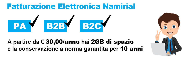 Fatturazione elettronica da 30 € / anno