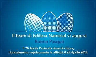 Il team di Edilizia Namirial vi augura Buona Pasqua
