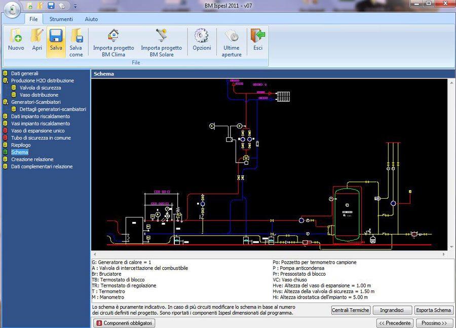 Software progettazione centrali termiche - Ispesl