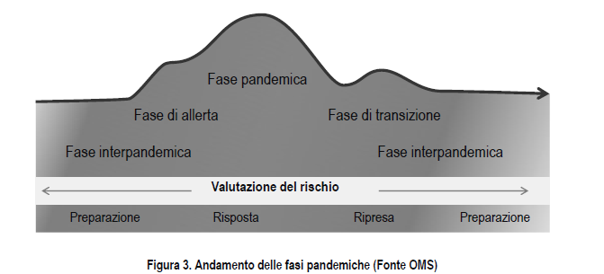 Grafico andamento delle fasi pandemiche