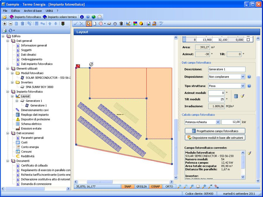 Software per la progettazione di impianti fotovoltaici 63