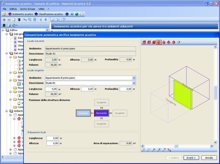 Software Acustica - Verifica acustica con composizione guidata
