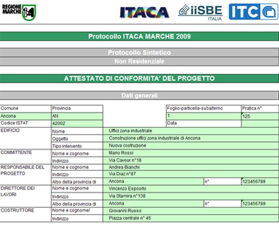 Certificazione Ambientale - Protocollo ITACA