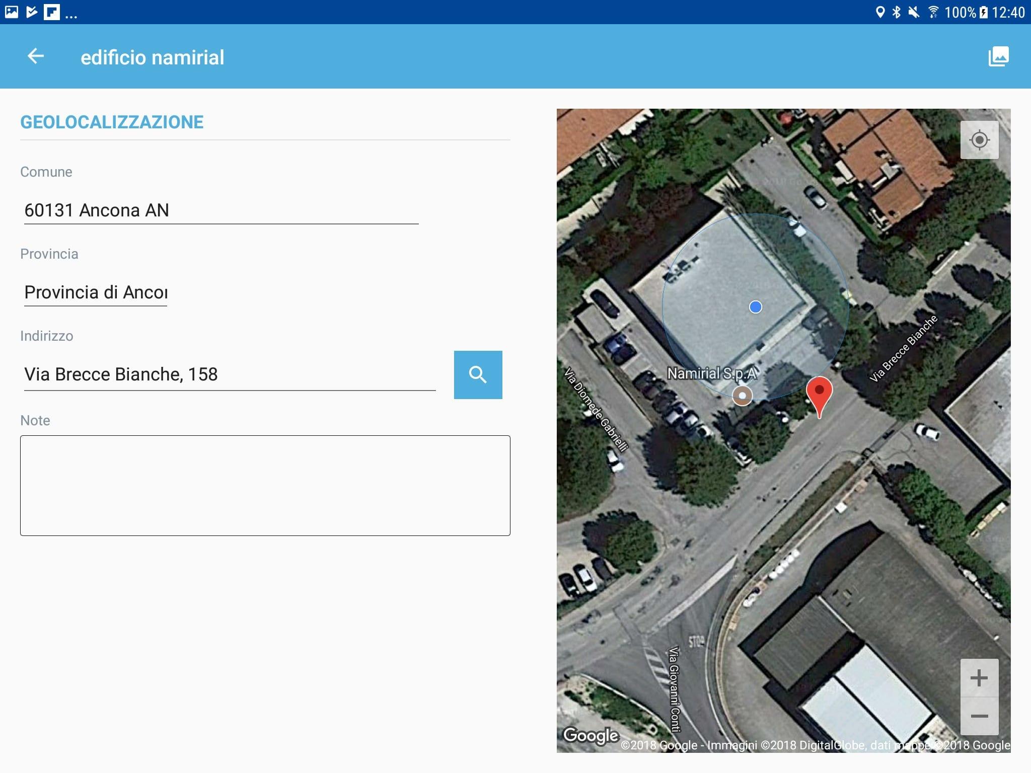 App Termo Android - Geolocalizzazione