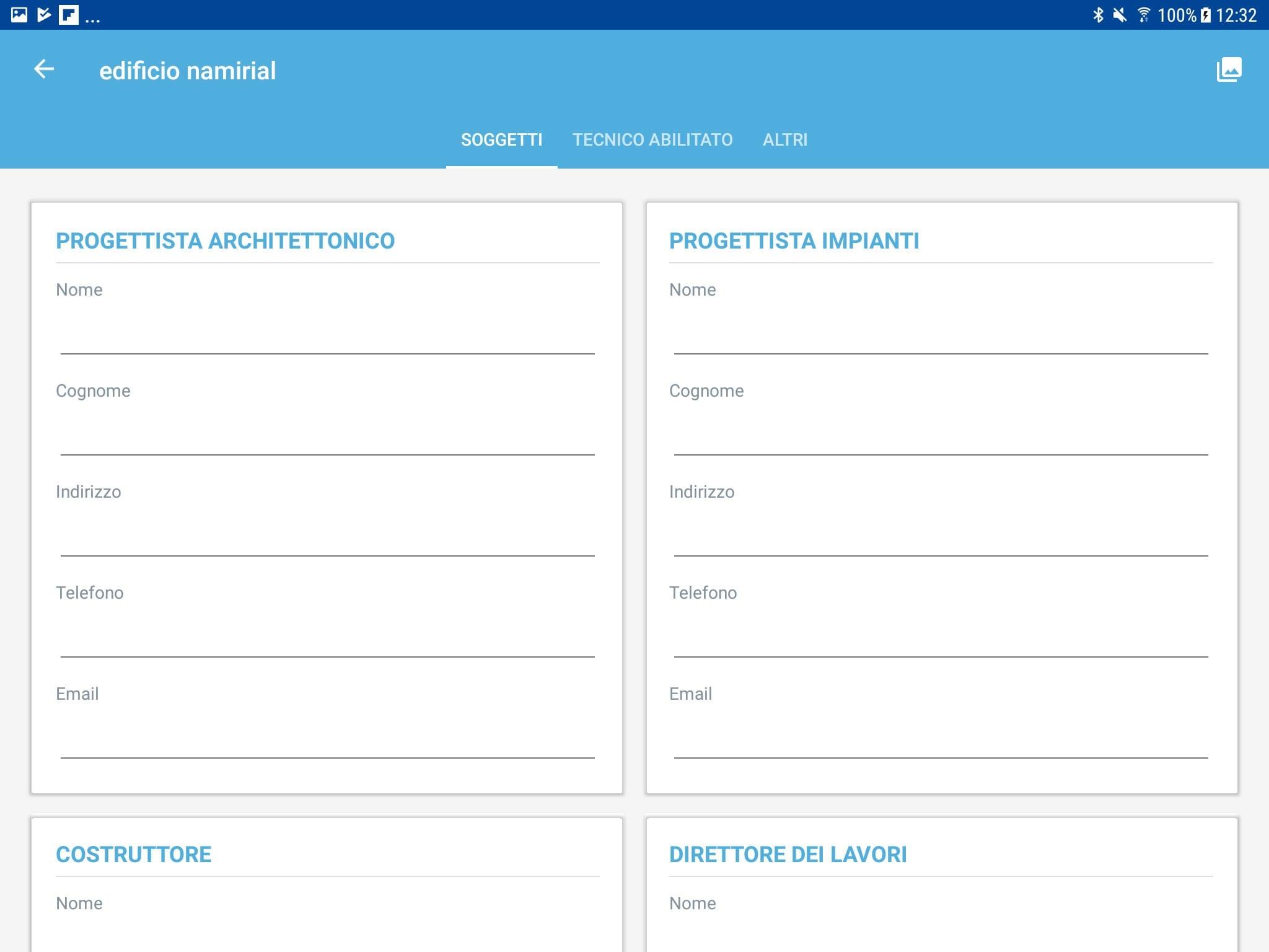 App Termo Android - Soggetti