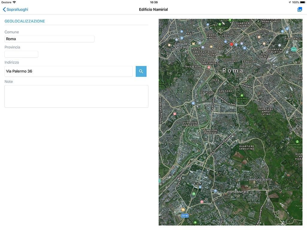 App Termo iOS - Geolocalizzazione