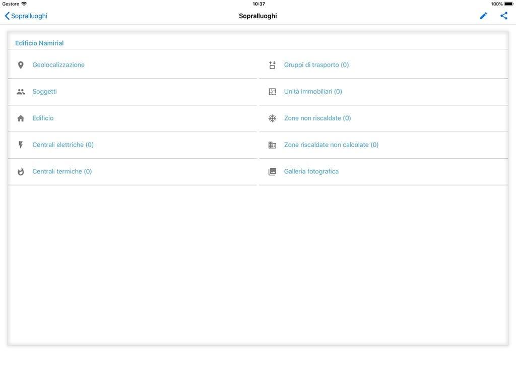 App Termo iOS - Menu