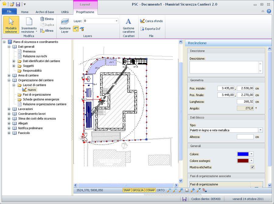 CAD integrato per Layout sicurezza cantiere