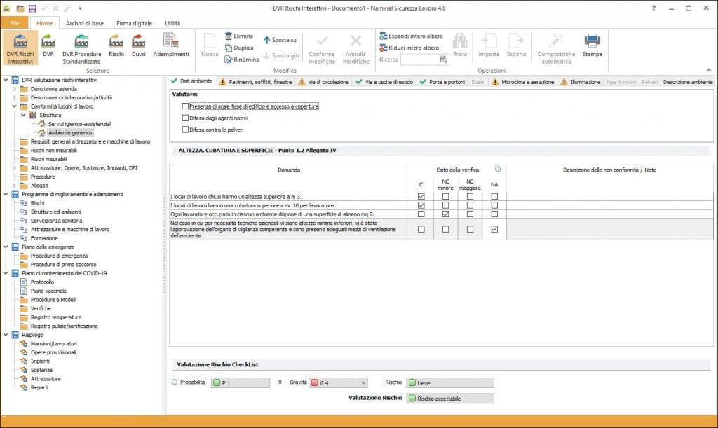 Software Sicurezza Lavoro - COVID-19 - Art. ricambi d'aria