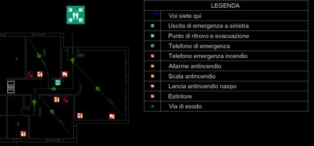 CPI CAD - Piano di emergenza - Legenda