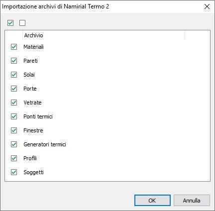 Importazione archivi Termo 2