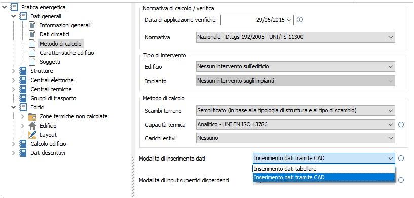 Modalita inserimento dati tabellare o cad