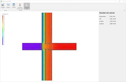 Ponti termici - Termo - Discretizzazione del nodo attraverso mesh poligonali