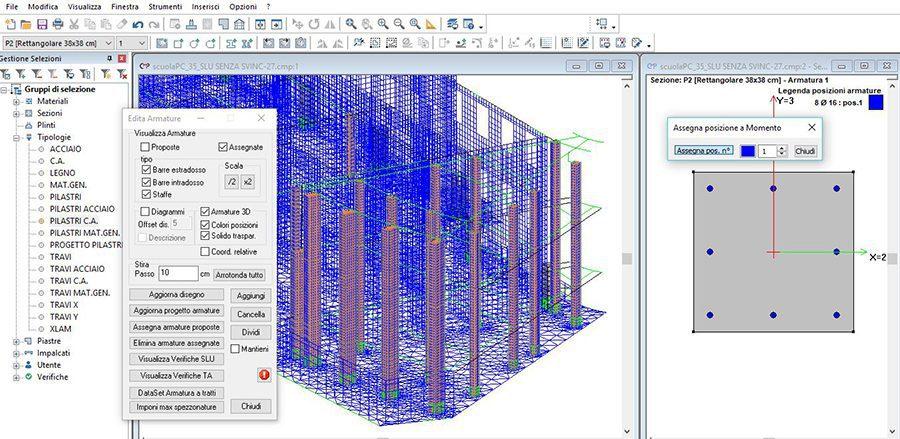 CMP - Prog. visualizzazione tridimensionale armatura