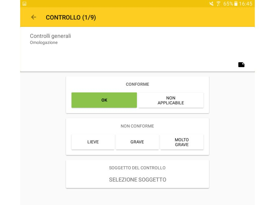 Verifica sicurezza cantieri su tablet