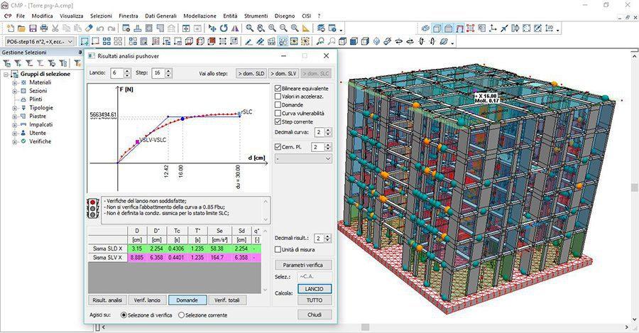 CMP - Visualizzazione risultati analisi di pushover