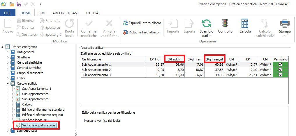 Detrazionifiscali65%- Dati verifiche riqualificazione - Termo