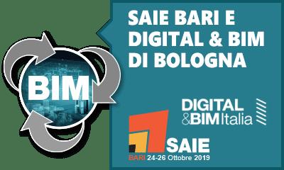 SAIE Bari e Digital & BIM Bologna - Vieni a trovarci