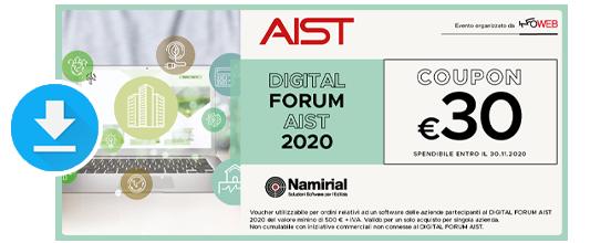 Coupon AIST Namirial - Digital Forum - Download