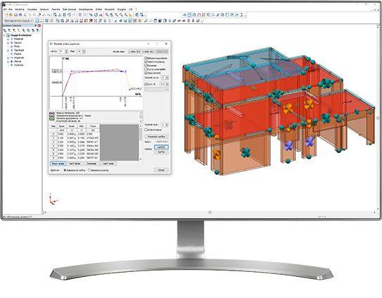 CMP Murature - Visualizzazione grafica delle cerniere plastiche ad ogni passo dell'analisi di pushover
