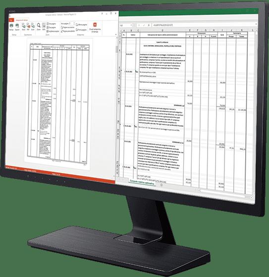 Stampa Computo metrico - Esportazione in excel - Regolo