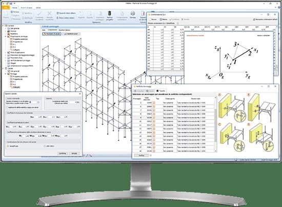 Verifica strutturale del ponteggio - Software Calcolo Statico