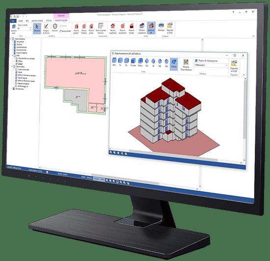 Inserimento dati tabellare e CAD - Termo