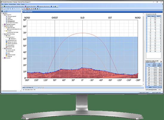 Ombreggiamento, profilo orizzonte - Termo Energia